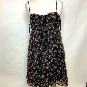 Steve Madden Black floral dress medium